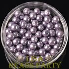 New 144pcs 8mm Round Czech Glass Pearl Loose Spacer Beads Purple