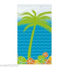 HAWAIIAN LUAU Island Paradise PLASTIC TABLE COVER ~ Birthday Party Supplies Sun