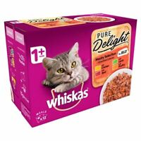 Whiskas 1+ Cat Pouch Pure Delight Meat in Jelly 12 x 85g - 262131