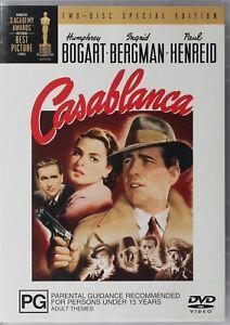 Casablanca DVD - Humphrey Bogart - Two Disc Special Edition - Free Post