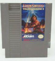 IRONSWORD WIZARDS AND WARRIORS II 2 Nintendo NES