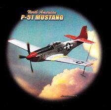 TEE SHIRT  Manches Longues . AVION MUSTANG P-51 / S  M  L  XL  XXL  XXXL + ENF