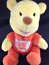 "Disney World Baby Pooh Plush Stuffed Animal Terrycloth Infant 8"" 21cm Bib"