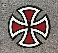 Independent Truck Cut Cross Skateboard Sticker 4in red si