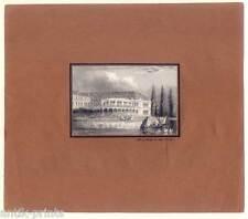 Hamburg - Neue halle an der Alster - Stahlstich 1845
