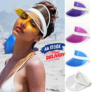 Transparent PVC empty top Golf Dance Cap summer Sun Visor Poker Hat Fashion