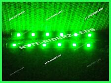 GREEN 5050 SMD LED STRIPS PAIR OF 6 INCH STRIPS FITS ALL  SMART BMW VOLVO
