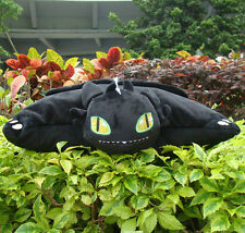 """How To Train Your Dragon Plush Stuffed Cushion Pillow 15"""" Toothless Night Fury"""