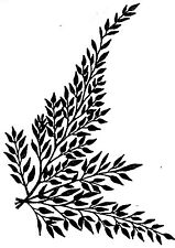 Unmounted Rubber Stamps, Floral Stamps, Fern Leaves, Ferns, Floral, Stamping