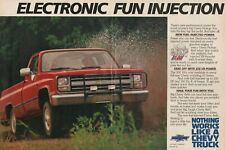 1986 Chevy Pickup Truck Fuel Injected 4x4 - 2-Page Vintage Ad
