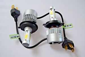 SMART CITY-COUPE 1998-2004 Single Headlight Kit Car LED Turbo Cool Fan Bulbs