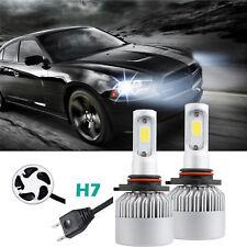 2x 72W H7 LED Headlight Bulb Conversion Kit High Beam Driving Headlamp HID White