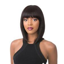 GALAXY   100% HUMAN HAIR   BLACK/HONEY/BURGUNDY   STRAIGHT BOB   IT'S A WIG