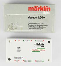 MÄRKLIN 6074 Decoder k 74, DC, Empfängermodul z.Schalten Licht Motor, OVP, top!