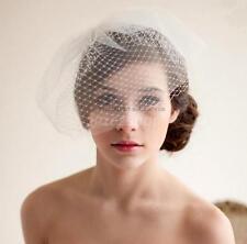 Vintage Face Veil Headdress Wedding Bridal Headpiece Comb Bird Cage Veil