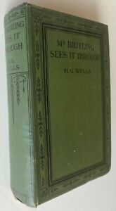 1916 MR BRITLING SEES IT THROUGH, H G Wells, free EXPRESS shipping AUST