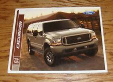 Original 2004 Ford Excursion Sales Brochure 04 XLS XLT Eddie Bauer Limited
