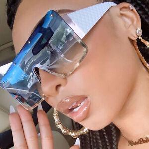 Trending 2021 Oversized Square Sunglasses Women Vintage Outdoor Shades Men UV400