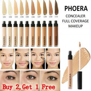 Phoera Foundation Makeup Liquid Base Coverage Brighten Lasting Shade Concealer!