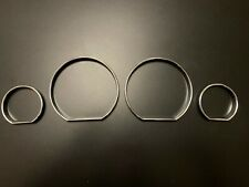 SPEEDOMETER DIAL GAUGE RINGS BEZEL CHROME FOR BMW 3 SERIES E46 M3 TRIM