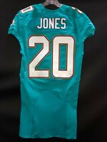 #20 MIAMI DOLPHINS RESHAD JONES TEAM ISSUED AQUA NIKE JERSEY SZ-40 YR-2014