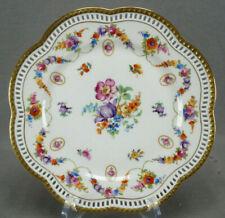 Dresden Style Schumann Bavaria Rheinland Pattern 8 1/2 Inch Reticulated Plate