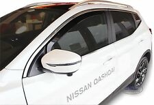 DNI24285 Nissan Qashqai MK2 2014-up wind deflectors 2pc Internal Fit TINTED HEKO