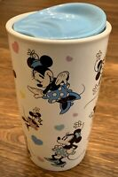 Disney Parks Minnie Mouse Ceramic Coffee Cup Tumbler with Ceramic Lid