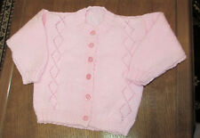 BABY PINK  HAND KINTTED CARDIGAN 24 INCH CHEST NEW