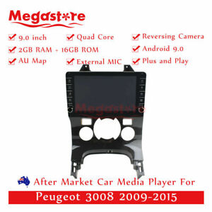 """9"""" Quad Core Android 9.1 Car non dvd Media Player GPS For Peugeot 3008 2009-2015"""