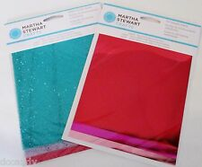 12 Sheets Martha Stewart Foil Glitter Transfer Sheet