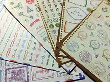 Sello de Artesanía Pegatinas 6 hojas de estilo vintage sellos de papel diario Álbum de Recortes Tarjetas