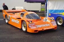 PHOTO  SILVERSTONE 1989 BRUN PORSCHE 962C GROUP C SPORTS PROTOTYPE CHASSIS NUMBE