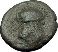 MESEMBRIA in THRACE 400BC Corinthian HELMET WHEEL Ancient Greek Coin i60972