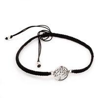 Keltischer Lebensbaum Armband Makramee 925er Symbol Schmuck - NEU