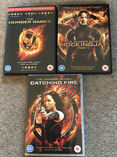 THE HUNGER GAMES & MOCKINGJAY PART 1 & CATCHING FIRE DVD
