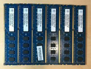 Nanya 24GB (6 x 4GB) 2Rx8 PC3-12800U-11-12-B0 1600Mhz DDR3 SDRAM Desktop Memory