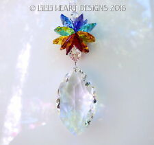 m/w Swarovski 50mm Clear Cats Eye Marquise Chakra Suncatcher Lilli Heart Designs