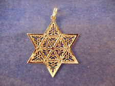 "metropolitan museum of art gold vermeil star pendant/ornament 1979 1 1/2"" vintag"