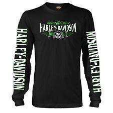 Overseas Tour Big V-Twin HARLEY-DAVIDSON Military Mens Long-Sleeve Graphic T-Shirt