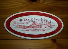 Fitz and Floyd Town & Country Bless This House Tray 2007 NIB