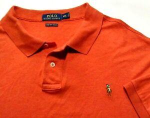 Polo Ralph Lauren Men's 2xl xxl Orange Shirt Polo Pima Touch Embroidered 10-1221