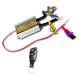 12V Car Battery Switch Isolator Disconnect Power Kill Cut Off w/Remote Control