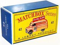 Matchbox Lesney No 42 BEDFORD EVENING NEWS VAN Repro Empty style D Box