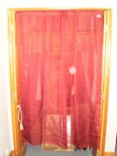 """One Panel Curtain Red Bordeaux Red See Thru W 58"""" L 69"""""""