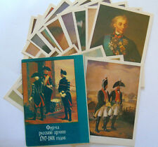 Set of 16 postcards The uniform of the Russian Army 1797-1801 period, USSR, rare