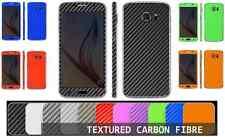 Fibra De Carbono Con Textura 3D Pegatina Calcomanía Envoltura de piel funda todos los Samsung Galaxy