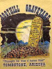 Vintage 90's Boothill Graveyard Tomestone Arizona Xl T Shirt Headstone Catus