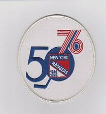 NEW YORK RANGERS 50TH ANNIVERSARY PATCH BLUE JERSEY