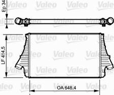 Valeo Intercooler (818722) Fiat Opel Scambiatore di Calore Intercooler Lkk